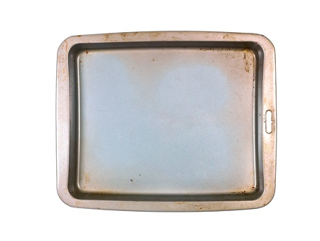 A baking tray on a kitchen bench photo