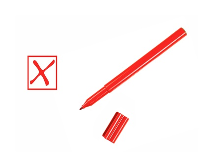 Marker pens isolated against a white background photo