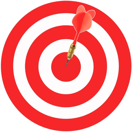 Playing darts isolated against a white background photo