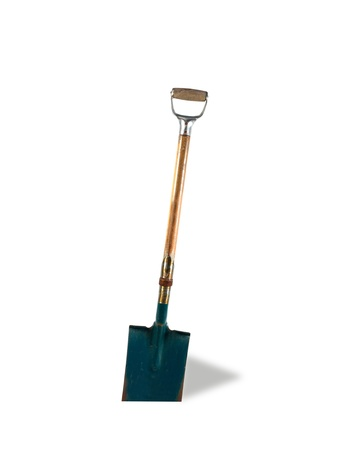 A garden shovel isolated against a white background Stock Photo