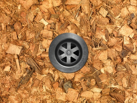 Garden wood chip mulch isolated against a white background Stock Photo - 11932690