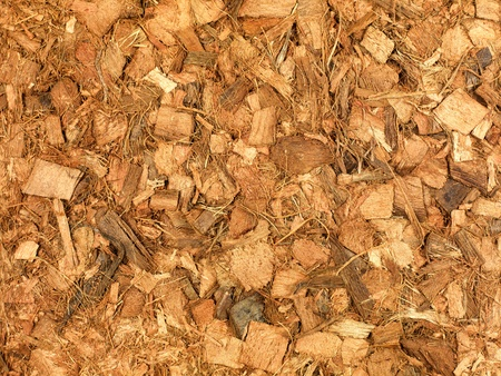 Garden wood chip mulch isolated against a white background Stock Photo - 11932691