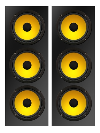 Stero speakers isolated against a solid background Stock Photo - 11993288