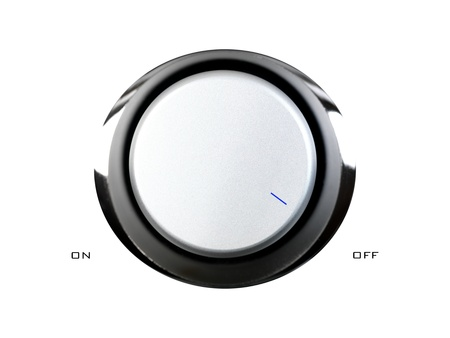A volume contol knob isolated against a white background photo