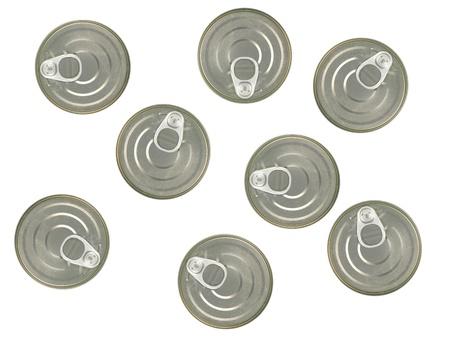 chrome base: Coperchi di latta isolato su uno sfondo bianco