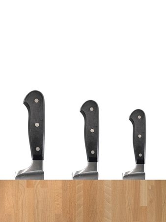chiefs: A chiefs large kitchen metal carving knife Stock Photo