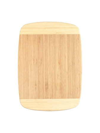A wooden chopping board isolated on white Stock Photo - 12388522