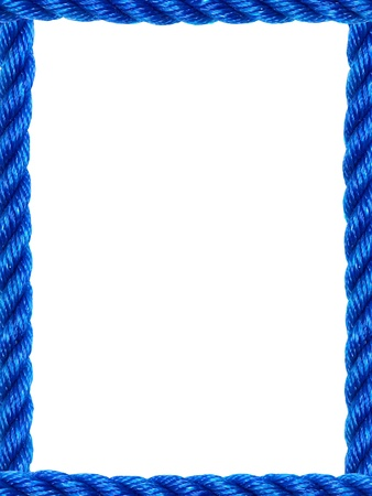 fastening objects: Pieces of rope isolated against a white background