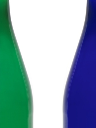 An abstract close up image of the curve of a bottle photo