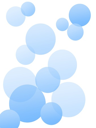 A vector background of bubbles on a white background photo