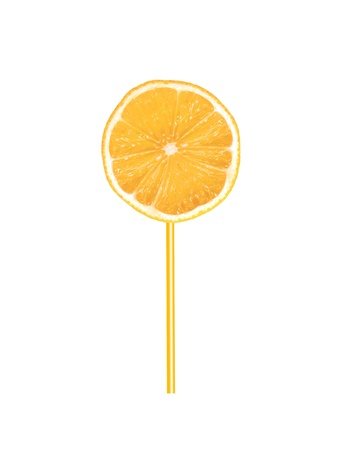icey: An orange icey pole isolated on a white background