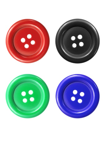 Buttons isolated against a white background photo