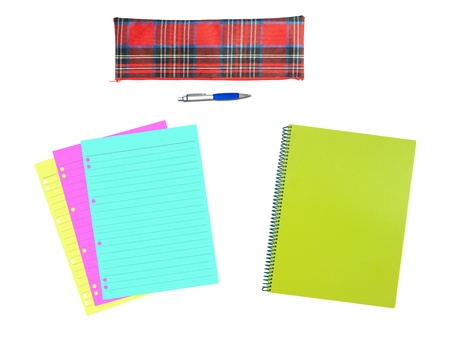 A notepad isolated against a white background photo