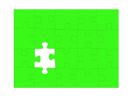 Jigsaw puzzle pieces isolated against a white background Stock Photo - 12388640