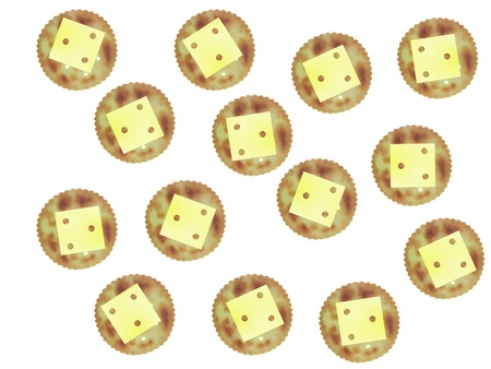 Savoury biscuits isolated against a white background Archivio Fotografico