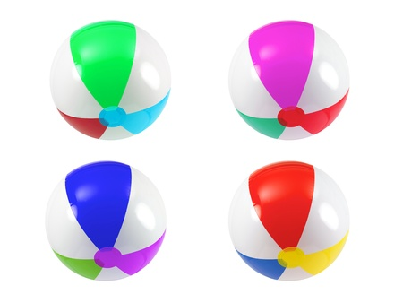 Beach balls isolated against a white background Stock Photo - 12697182