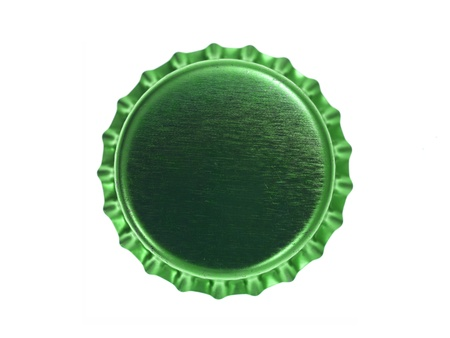 Bottle caps isolated against a white background photo