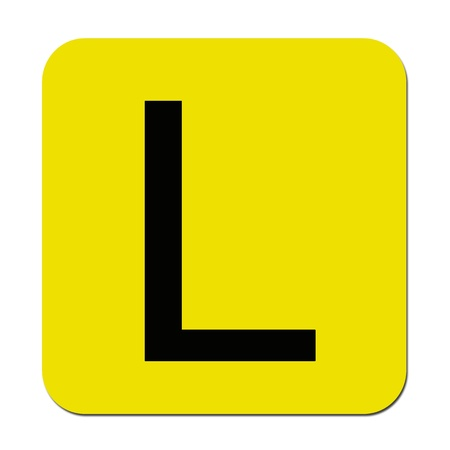 Learner plates isolated against a white background