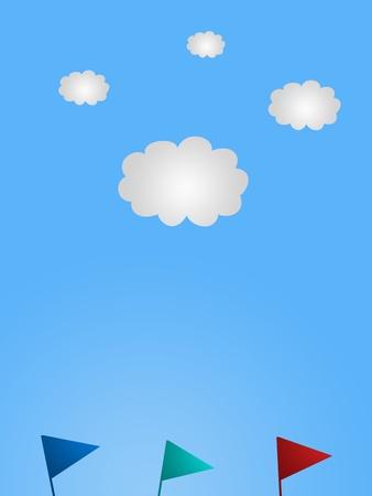A conceptual vector image of a cloudy day photo