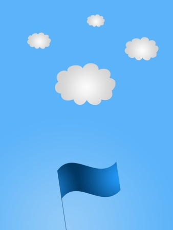 A conceptual vector image of a cloudy day photo