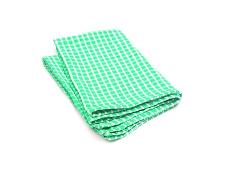 dishcloth: Tea towels isolated against a white background Stock Photo