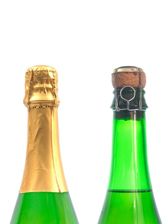 Bottled champagne isolated against a white background Stock Photo - 12695661