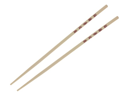 Chop sticks isolated against a white background Stock Photo - 12697998