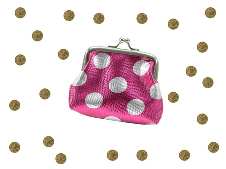 cent: A coin purse isolated against a whitebackground Stock Photo