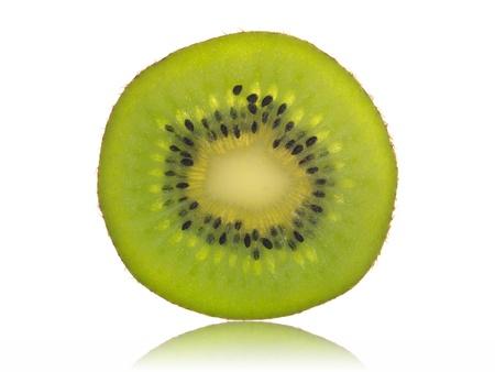 dietetical: Kiwi fruit isolated against a white background Stock Photo