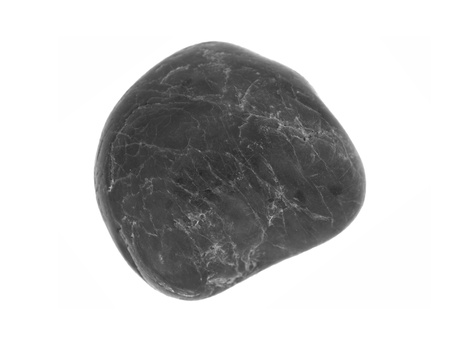 A river rock isolated against a white background photo