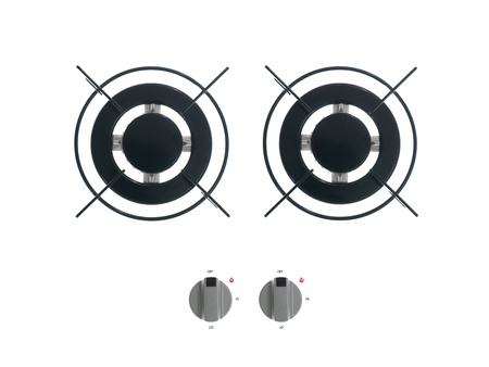 Gas burners isolated against a white background Stock Photo - 13035276