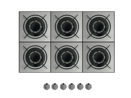 Gas burners isolated against a white background photo