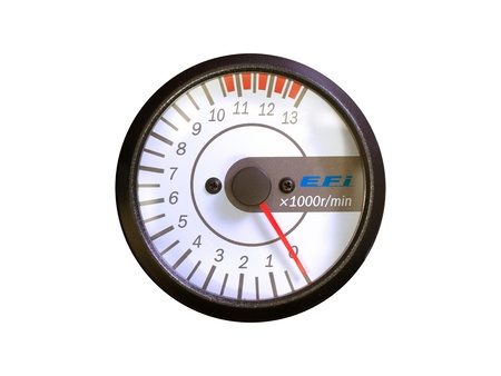 rev: A rev counter isolated against a white background