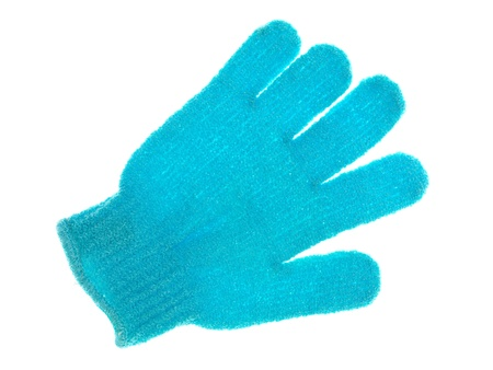 Exfoliate gloves isolated against a white background photo