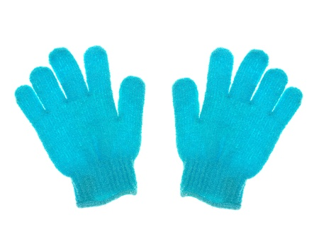 Exfoliate gloves isolated against a white background Stock Photo - 13068814