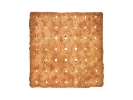 Savoury biscuits isolated against a white background photo