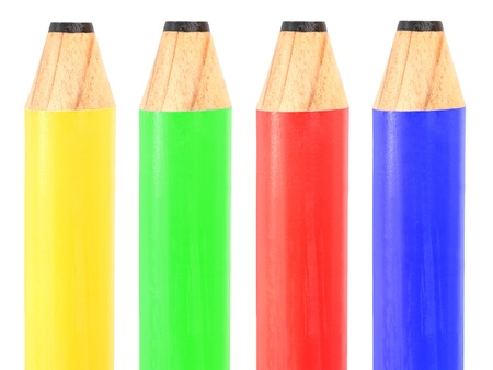 yoy: An oversized yoy color pencil isolated against a white background