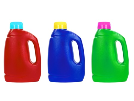 Laundry detergent isolated against a white background
