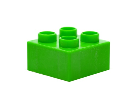 Large toy building blocks isolated against a white background Stock Photo - 13422342