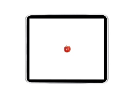A computer tablet isolated against a white background Stock Photo - 13422537