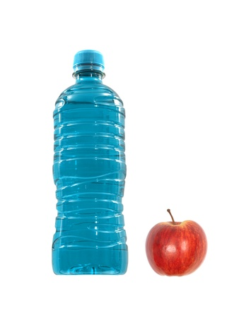 replenish: Flavoured sports drinks isolated against a white background