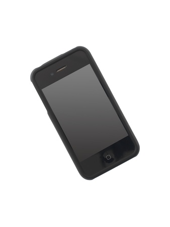 A mobile phone isolated against a white background Stock Photo - 13422546