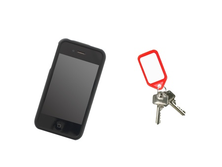 A mobile phone isolated against a white background Stock Photo - 13422555