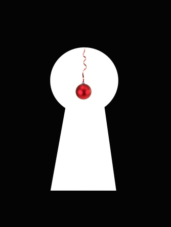 A keyhole isolated against a black background Stock Photo - 13422510
