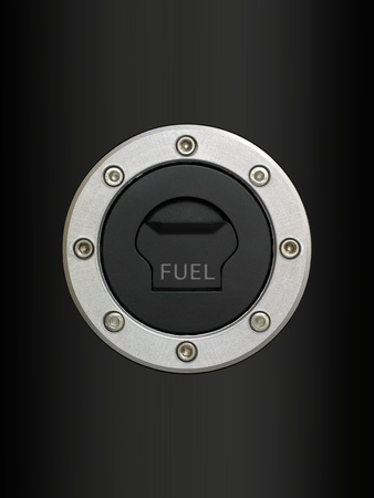 A cloe up shot of a fuel tank cover photo