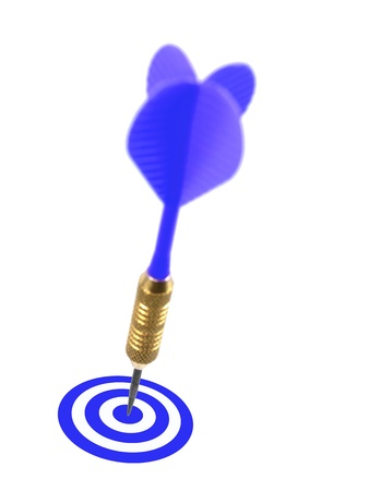 Playing darts isolated against a white background Stock Photo - 13544197
