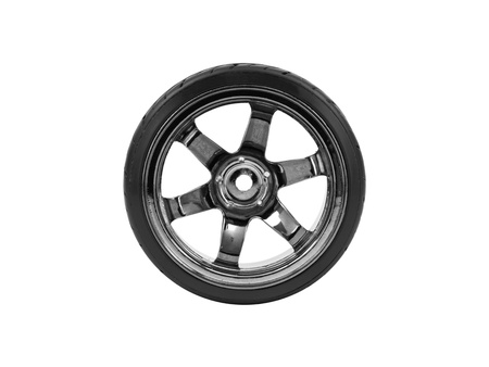 Rubber tyres with sports rims on a white background Stock Photo - 13657908