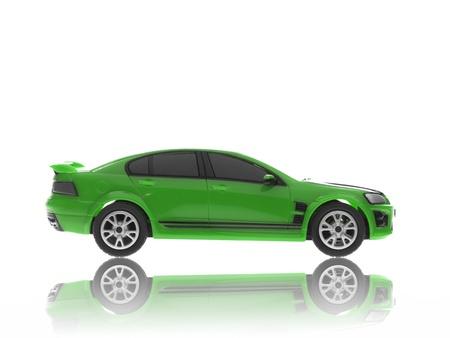 motor de carro: Un coche de juguete deporte aislado contra un fondo blanco Foto de archivo