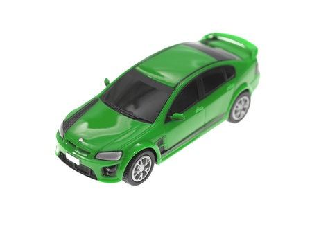 A toy sports car isolated against a white background Stock Photo - 13657079
