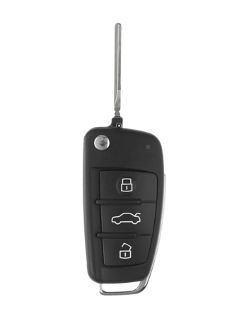 A toy sports car key isolated against a white background photo